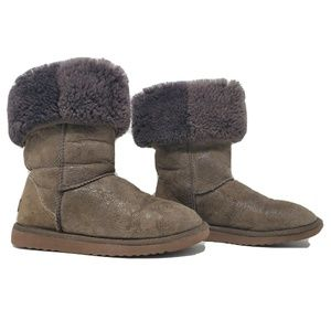 UGG Classic Tall Baroque Embossed Paisley Brown